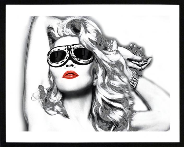 madonna lunette pop art lithographie sandrine hayat peinture collage artiste peintre