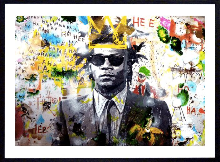 pop art lithographie sandrine hayat peinture collage artiste peintre basquiat