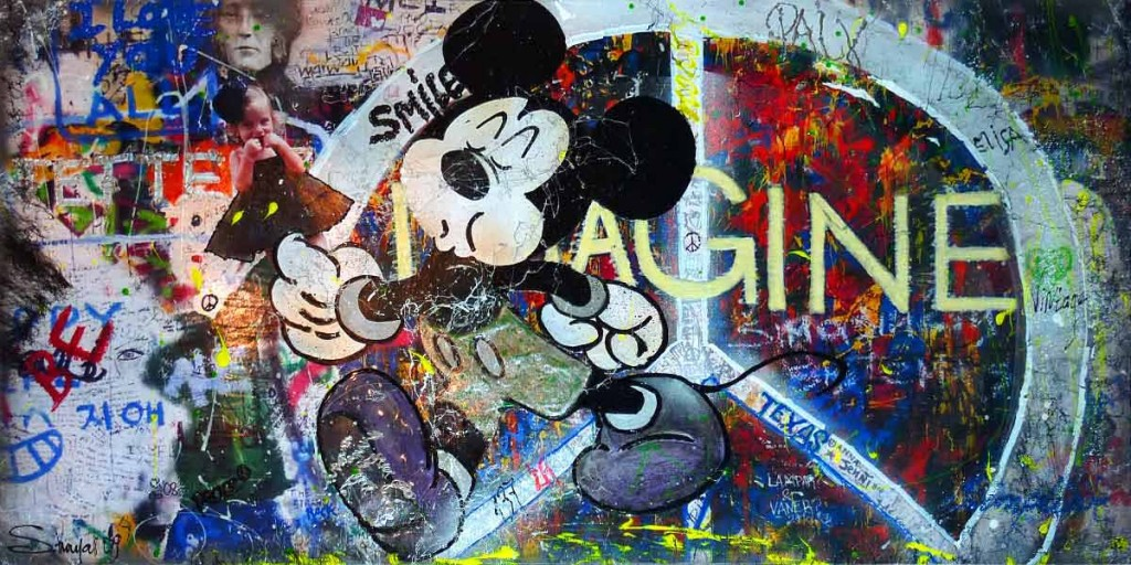 oeuvre, tableau, artiste, artiste peintre, contemporain, atelier , atelier pop art, decoration, galerie, mickey
