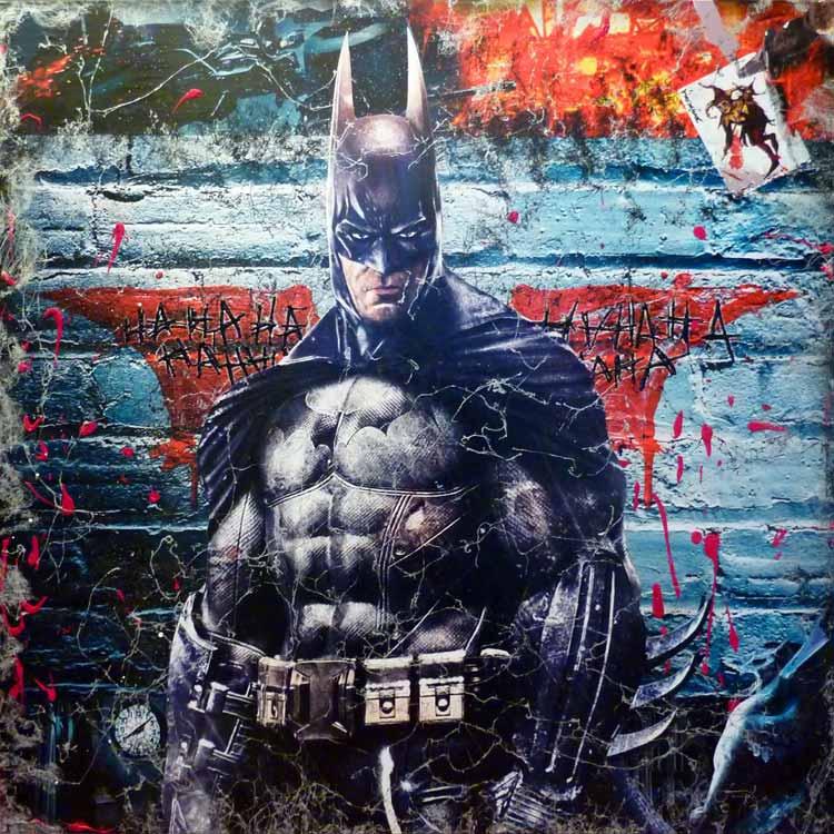 oeuvre, tableau, artiste, artiste peintre, contemporain, atelier , atelier pop art, decoration, galerie, Batman