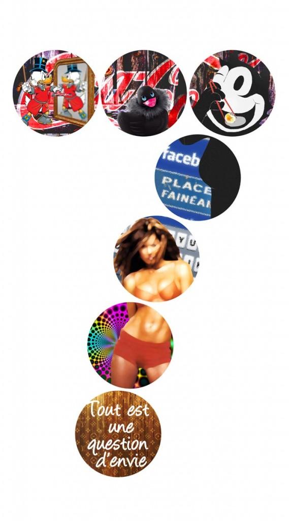 pop art peinture collage sandrine hayat les sept péchés capitaux tableaux picture