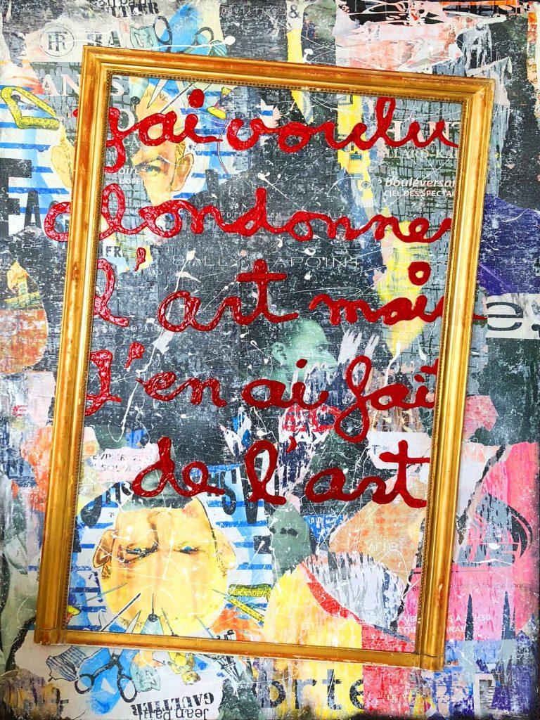 artiste peintre, tableau, rénovation, décoration, street art, Popart, homedesign, sculpture, œuvres, intérior, collector, women, love, pochoir, luxe, graphique, Instagram, collage, sandrinehayat, modernart, art, Gallery, gallerie, Painting, peinture, affiches, déchirées, déchirée